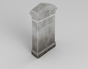 Lowpoly Gravestone 3D model realtime