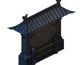 nest Building - stone chamber wall 04 3D model