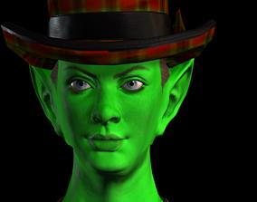 Green Girl Woman 3D asset