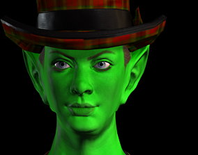 Green Girl Woman 3D model
