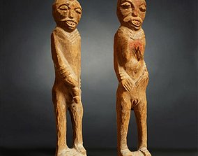 Primitive Sculpture Couple 2 3D model