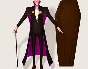 death Dracula Cartoon Vampire 3D model