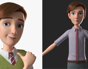 Cartoon Man Rigged 3D model