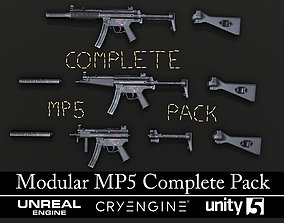 3D asset MP5 - MP5K - MP5SD - Textured - Game Ready
