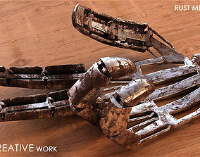 3D model Metal Rust Fingers