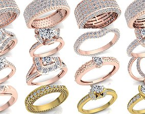 Fancy Bulk Collection Diamond Ring 3D model
