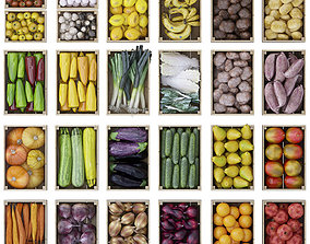 Vegetables and fruits 3D