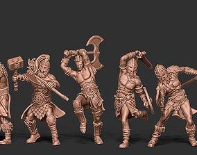 3D print model Viking bundle - 5 miniatures - 35mm scale