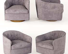 3D model Pair of Milo Baughman Tilt Swivel Club Chairs