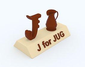 J for Jug Model toys