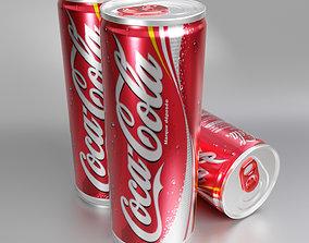 Coca-cola 250 ml 3D model
