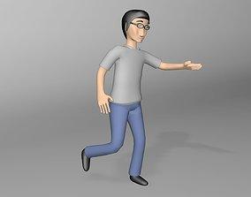 Boy play 3D model