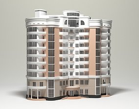 10 Storey Apartment Building 3D model