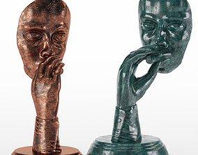 Retro Smoker Sculpture Set10 3D model