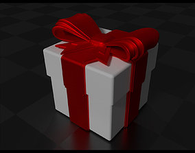 3D print model Gift Box with Bow and Ribbon