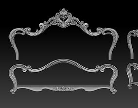 projects Classic Bed 3D relief models