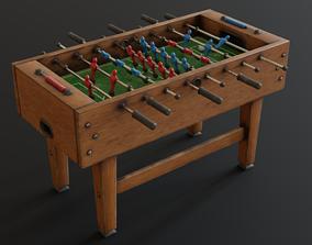 3D model low-poly Foosball Table soccer-stadium