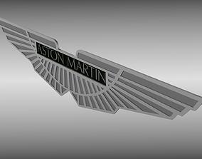 3D model Aston Martin logo