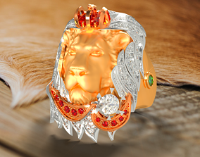 3D printable model LION ring RG0006