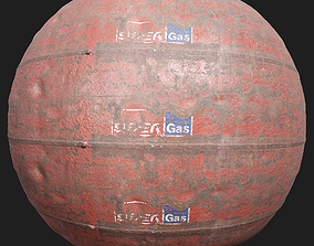 Rusty Gas Tank Metal 3D