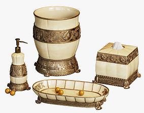 Chalmette Elegant Bath Accessories 3D model