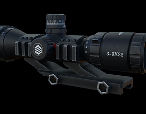 Scope 3X-9X Zoom 3D asset