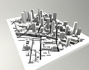 3D model Downtown Los Angeles