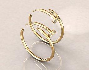 3D printable model Pin earring