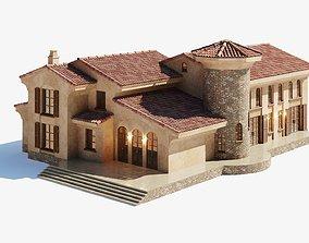 Spanish Colonial Villa 3D