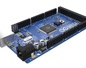 Arduino Mega 2560 3D model game-ready