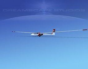 3D model Schleicher ASW 22 Sailplane V10