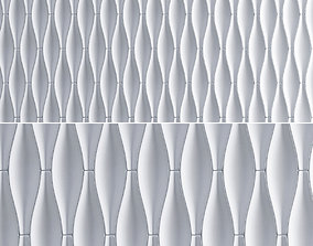 3d Gypsum Panels wall panel 3d model low-poly