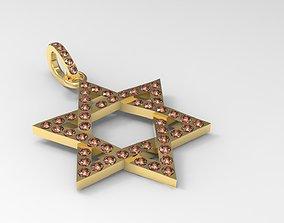 Star of David Pendant Jewish Symbol 3D printable model