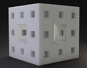 menger-sponge 3D print model Math Object 110