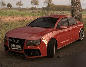 3D model red Audi RS7