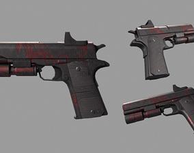 COLT1911 Red Dragon 3D asset