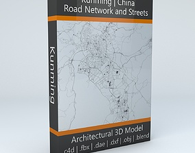 3D model Kunming Road Network and Streets