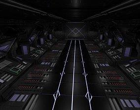 3D Space Ship Hallway Scifi