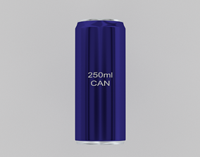 202- 250ml Aluminium Drinks Can 3D model