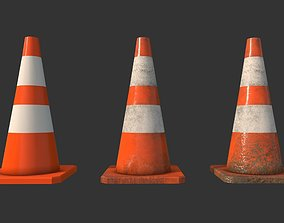 3D asset Traffic Cones Construction Set
