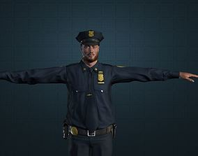 POLICE MANAGER MALE 3D model