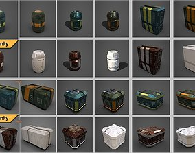 realtime 3D Sci-fi containers pack