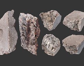 3D asset Small Concrete Debris Pack