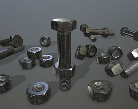 Bolts 3D model game-ready