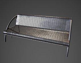 3D model Garden steel bench