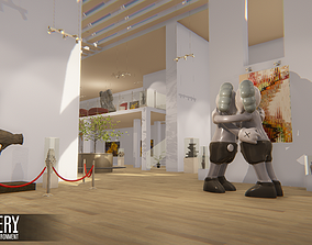 Gallery - Showroom Environment 3D asset low-poly