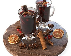 Mulled wine cups 3D