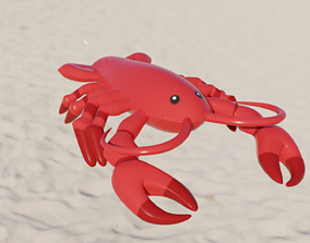 Lobster Inflatable Toy 3D model