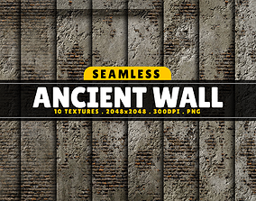 3D model Texture Pack Seamless Ancient Wall Vol 01
