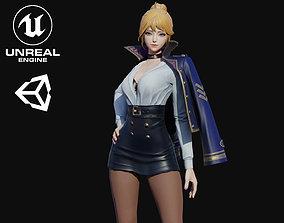 Skadi Girl 3D model